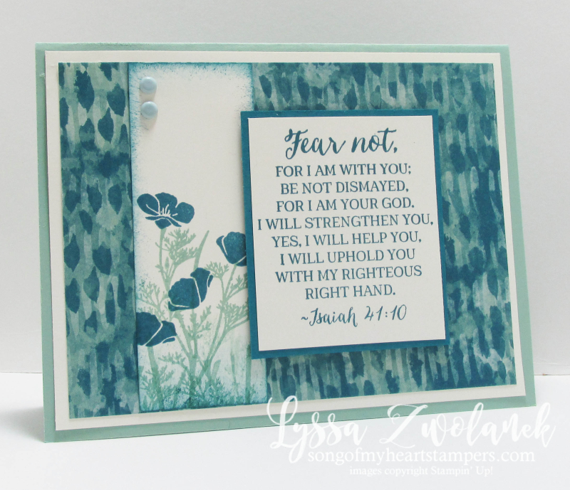 Fear Not I Am With Thee encouragement sympathy cards Stampin Up Scripture Verse