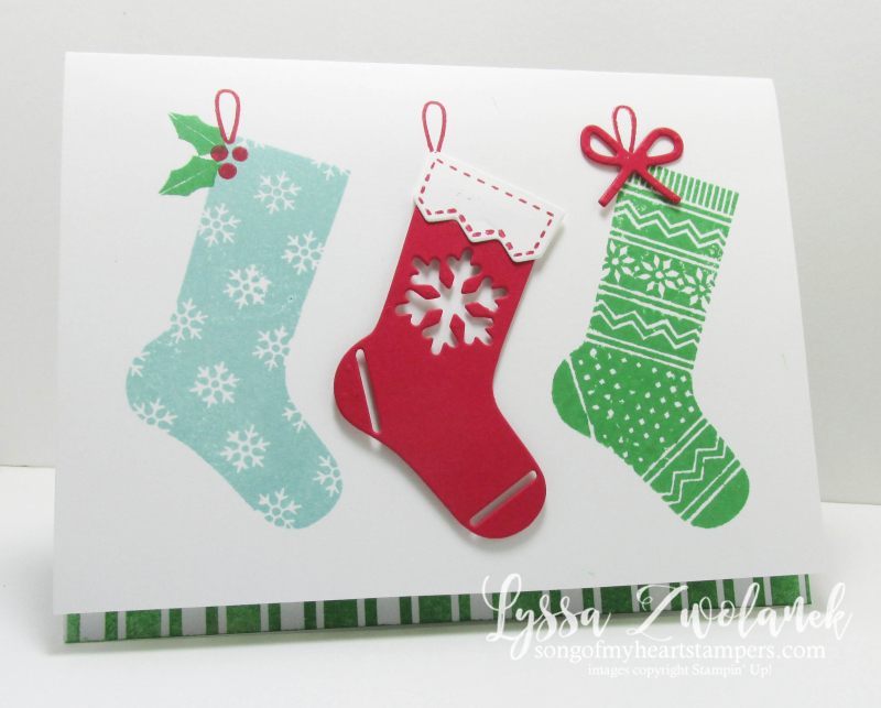 Hang Your Stocking Stampin Up Christmas bundle Holiday card