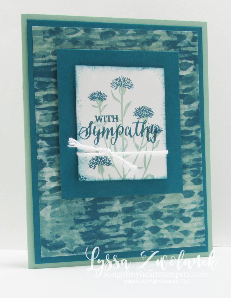 With Sympathy field flowers sorry for your loss card stampin up