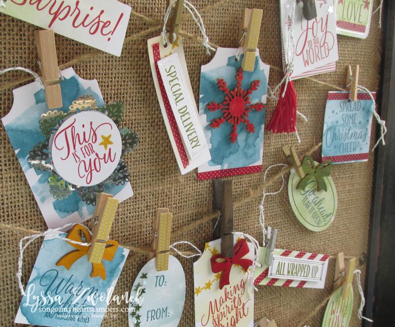 Tin of Tags Holiday Gift Tag Stampin Up Christmas Wrapping Sets