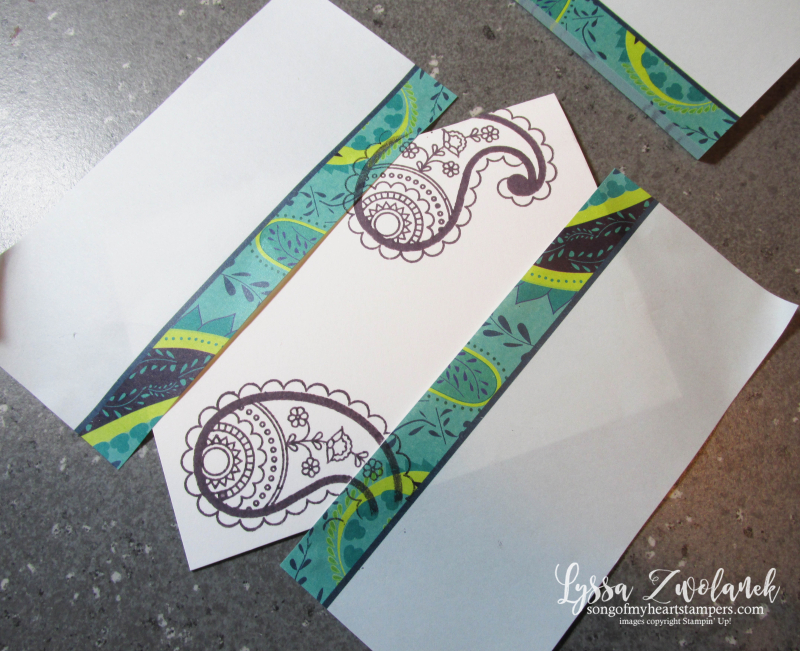 Masking technique for handmade cards Stampin Up sponging tutorial 3