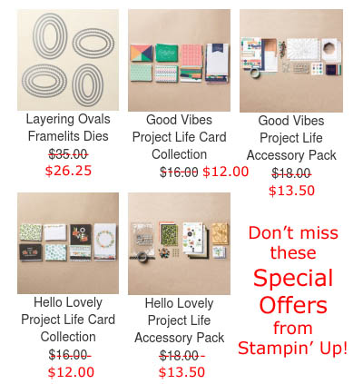 Special Offers Stampin Up Week 3