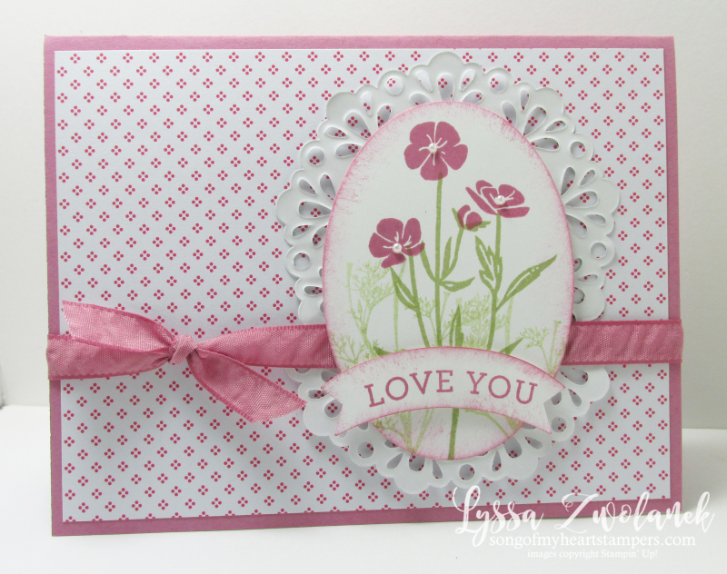 Wild About Flowers wildflower stamp wedding anniversary Stampin Up sweet sugarplum