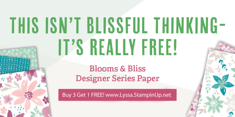 Designer Series Paper Stampin Up sale 12x12 scrapbooking blissful blooms