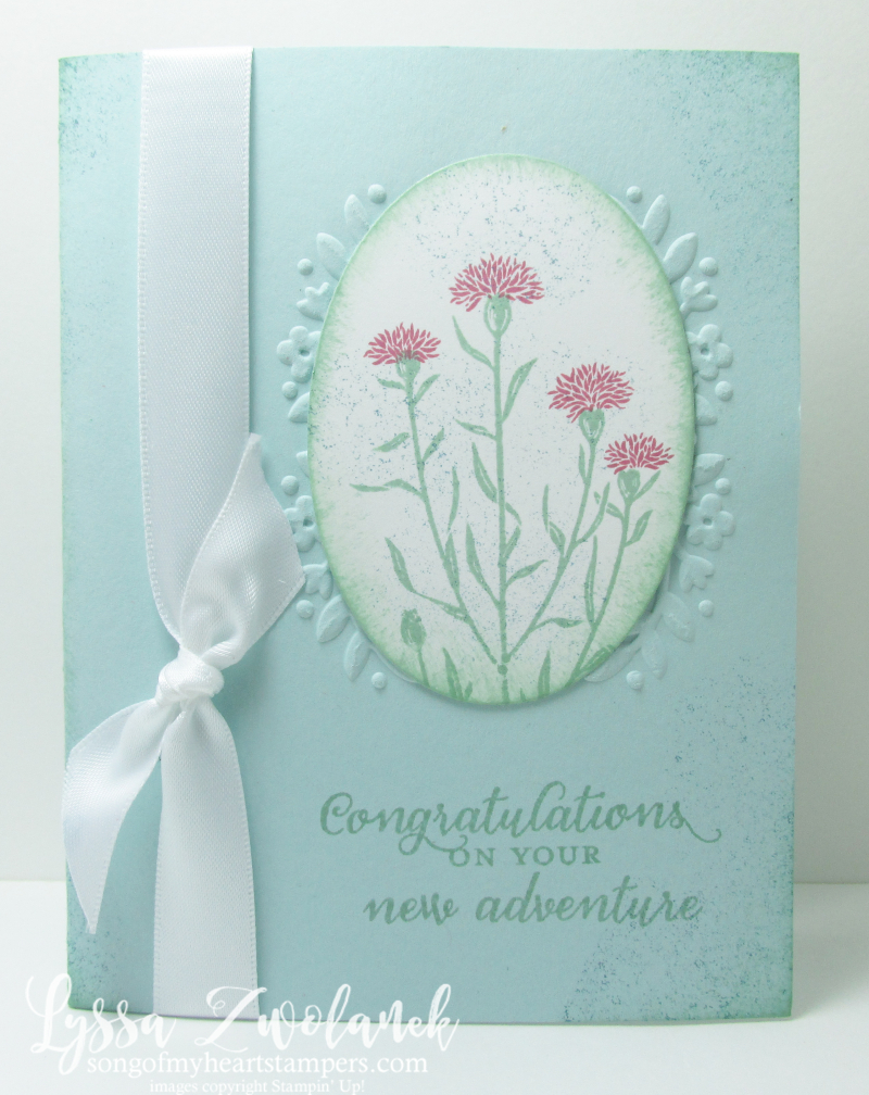 Wild About Flowers wildflower stamp wedding anniversary oval Stampin Up
