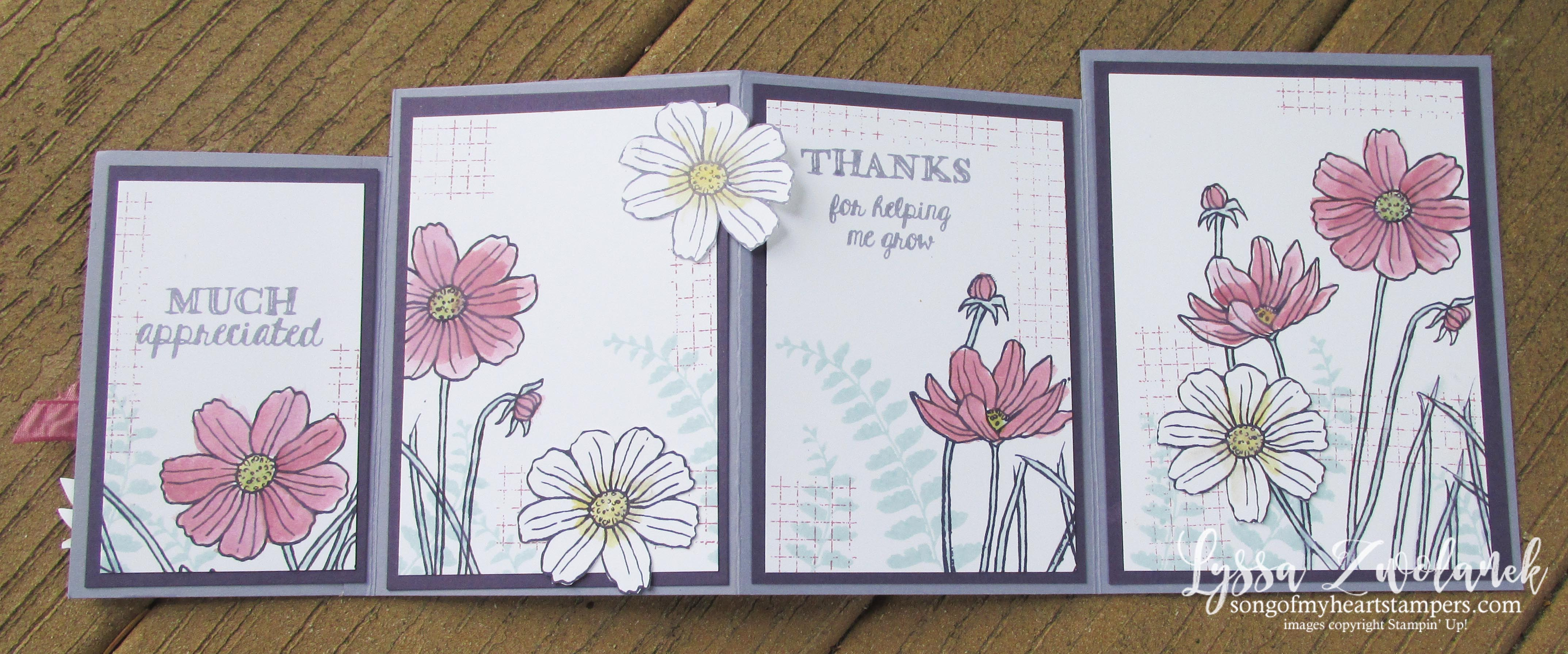 photo tutorial easy four fold card song of my heart stampers
