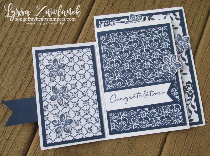 Fourfold four fold free tutorial Stampin Up cardmaking  fancy sketches