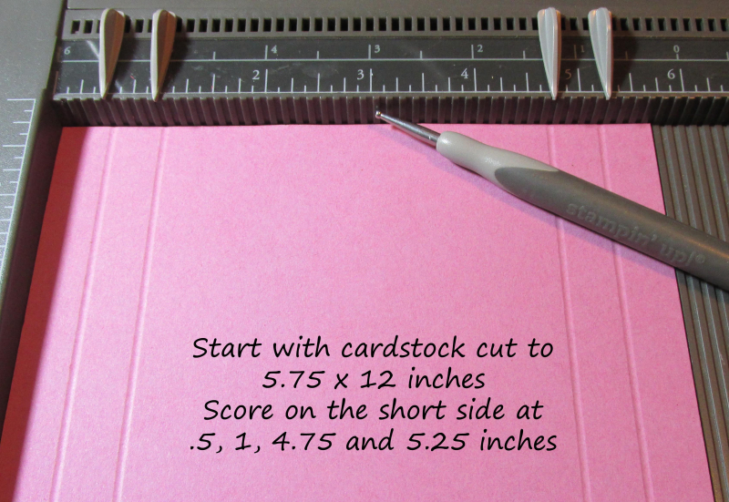 Freestanding post it note holder photo tutorial stampin up 1