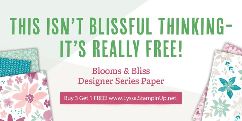 Designer Series Paper Stampin Up sale 12x12 scrapbooking blissful blooms