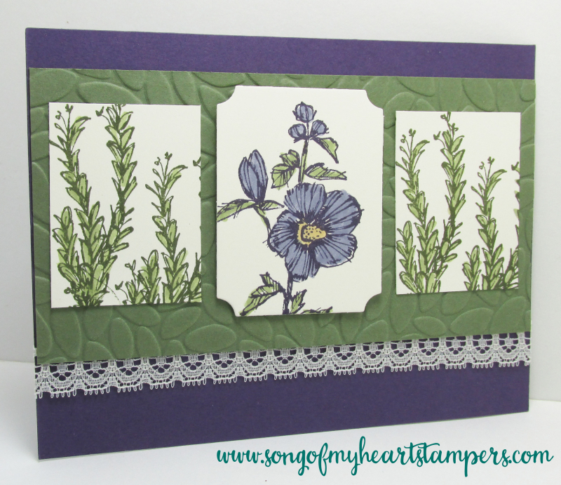 Fabulous FloraStampin Up hostess set artistic wildflower hand drawn