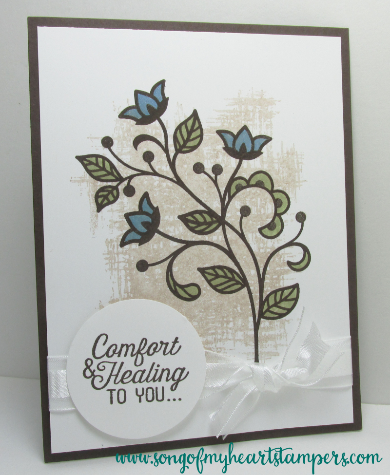 Flourishing Phrases Sympathy Card flourish thinlets Stampin Up Sizzix dies