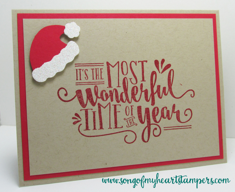 Most wonderful time of the year rubber stamps Stampin Up Christmas holiday