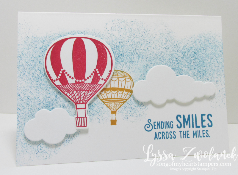 Lift Me Up & Away Stampin Up stamps thinlets sizzix Lyssa Zwolanek