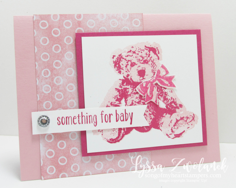 Baby Bear large image design card sketches Stampin Up cardmaking