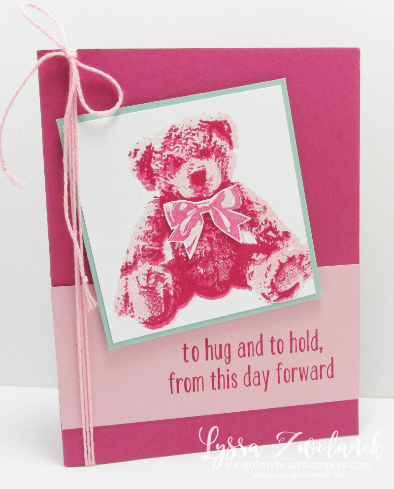 Baby Bear large image design cards sketches Stampin Up cardmaking