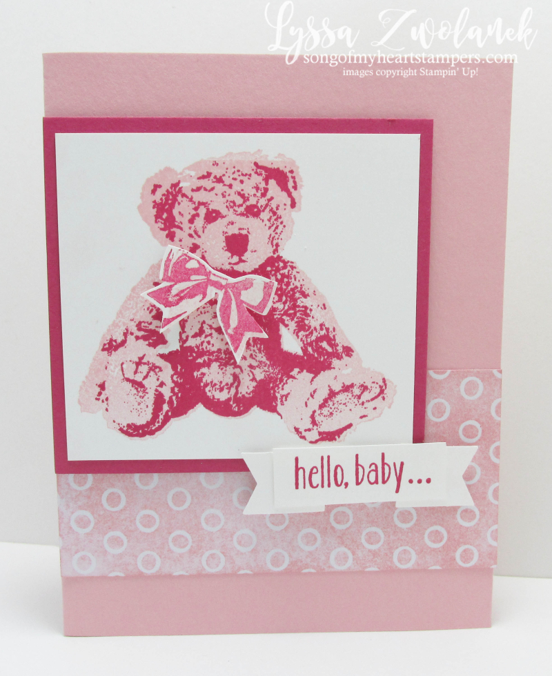 Baby Bear large image design girl card sketches Stampin Up cardmaking