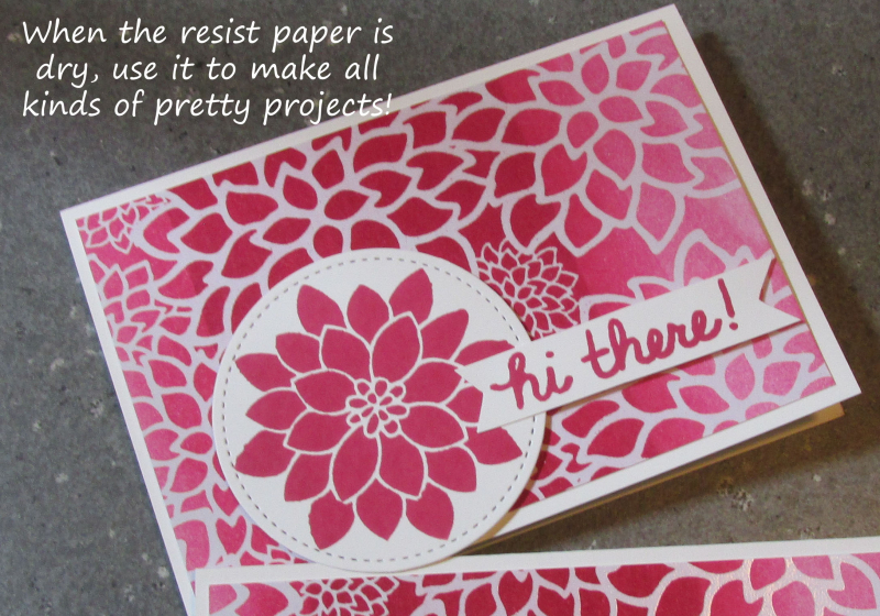 Ombre Resist Technique Sale_A_Bration Stampin Up Lyssa Zwolanek card tutorial