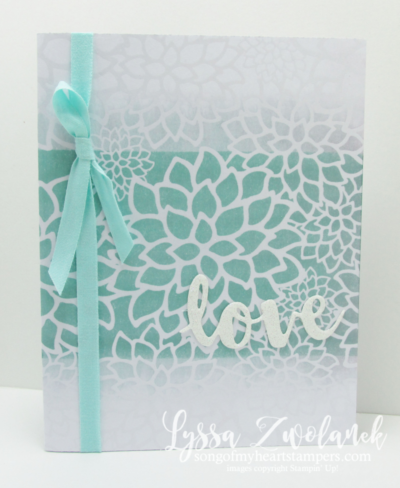 Ombre Resist Technique Sale_A_Bration Stampin Up Lyssa Zwolanek wedding card tutorial