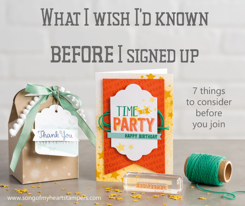 What I wish id known stampin up join now starter kit direct sales opportunity