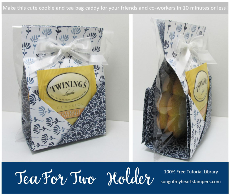 Tea for Two Caddy Holder tutorial Lyssa Zwolanek paper patterned