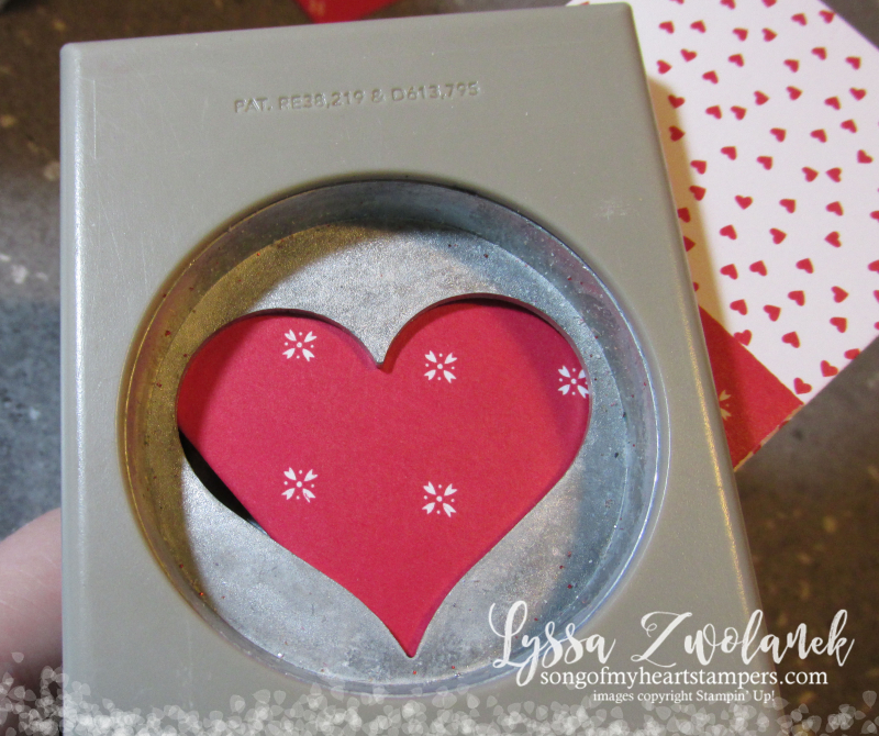 Heart Shaped Tags gift bag box tutorial technique Valentine Card candy punch DIY how to