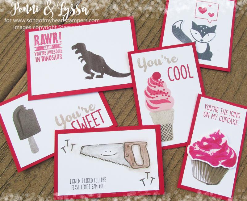 Classroom kids valentines from rubber stamps children craft project DIY valentine