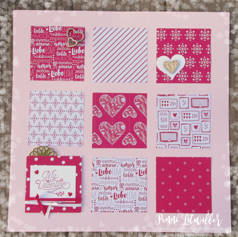 Valentine Scrapbook Page spread layout scrapbooking sketches Day Stampin Up album