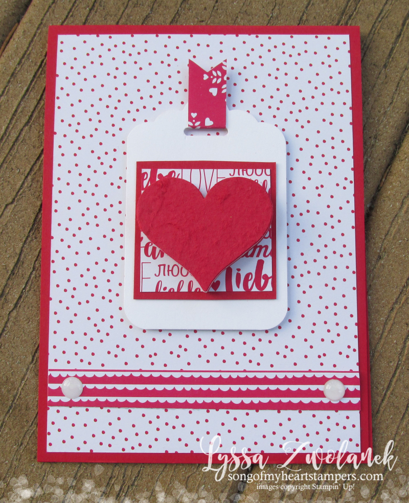 Multilayer heart punches embellishment Tombow Multipurpose Glue Stampin Up Sweetheart punch card Valentine