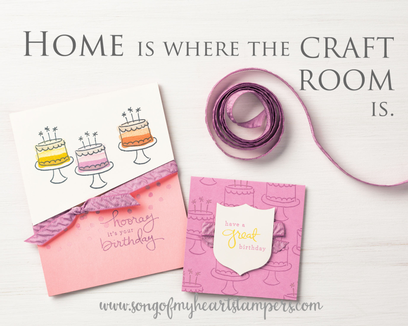 Home is where the craft room Song of My Heart Stampers