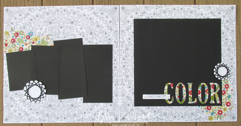 Inside the Lines designer series paper free saleabration stampin up scrapbook page layout