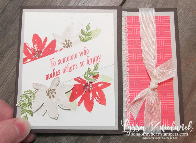 Avant Garden diagonal floral card Stampin Up SAB thanks DIY cardmaking flowers
