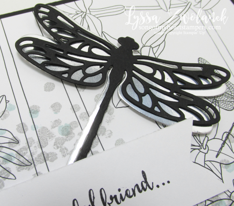 Dragonfly dreams Stampin Up inside Lines designer Series paper sale SAB 2017