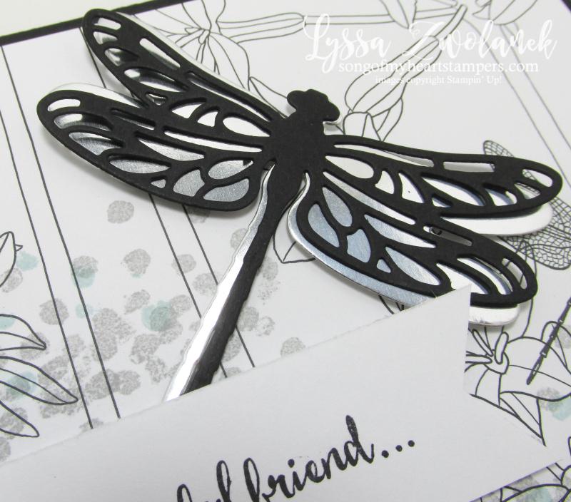 Dragonfly dreams Stampin Up inside Lines designer Series paper sale SAB 2017