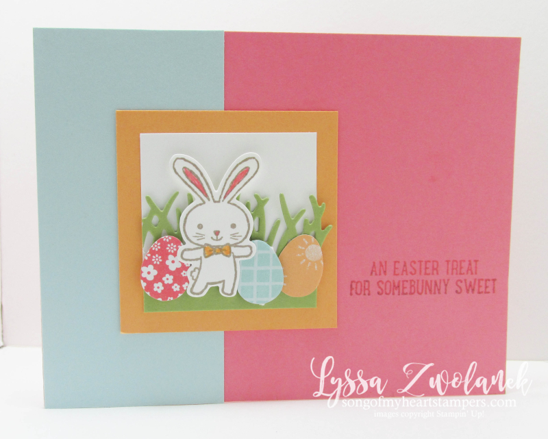 Basket Builders Chocolate Bunny bunnies Easter Eggs stampin up grass Lyssa