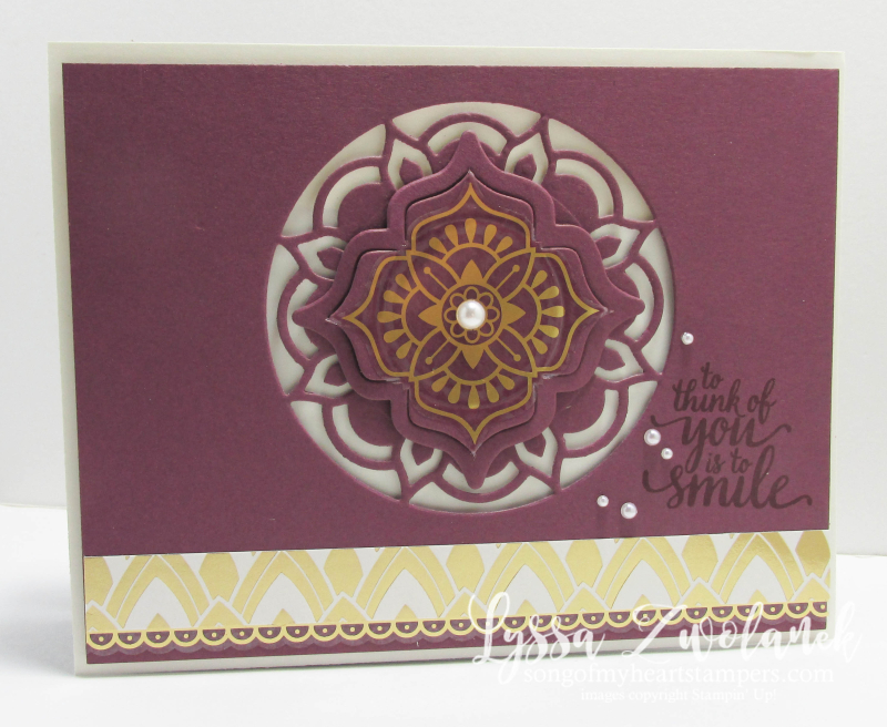 Eastern Palace Stampin Up new catalog preorder big shot card stickers colors Lyssa song my heart