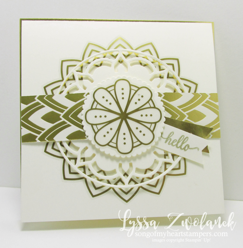 White Gold Eastern Palace diecut Sizzix Stampin Up wedding formal invitations handmade Lyssa