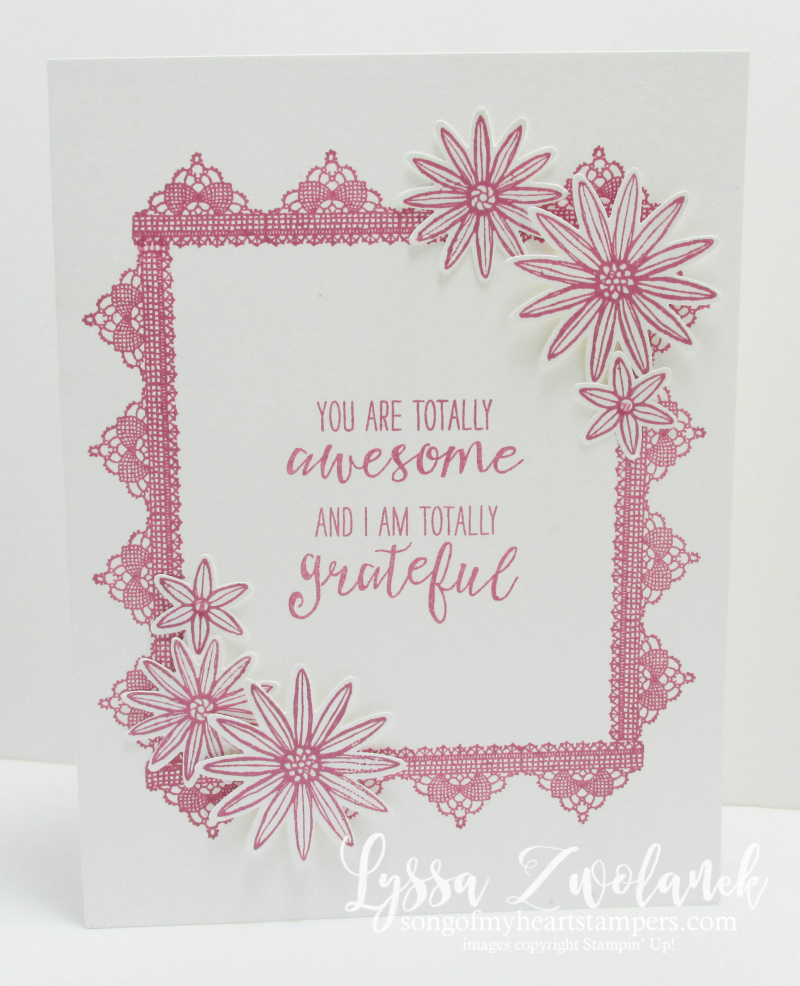 SSOTM Club December 2016 Stampin Up stamp set Grateful Bunch Lyssa Zwolanek