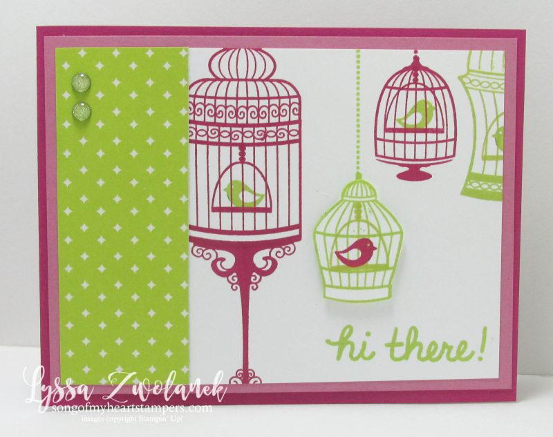 Birdcage Builder stampin up bird cage rubber stamping lemon lime berry Lyssa cardmaking