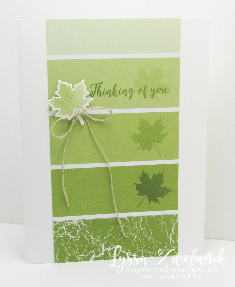 Color Theory Old Olive ombre paint swatch autumn leaf masculine cards guy tutorials Stampin Up Lyssa