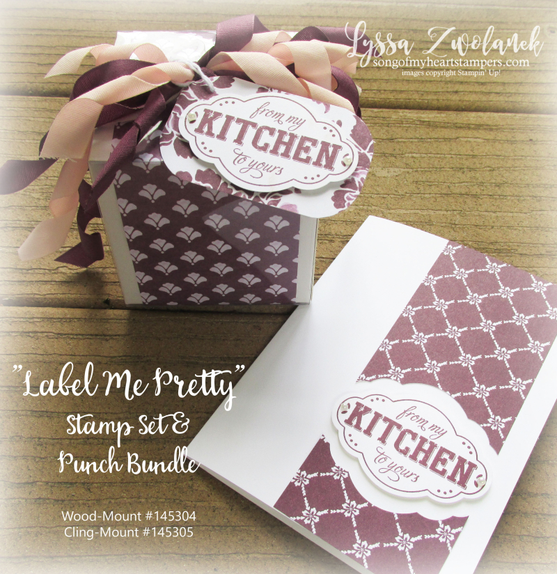 Label Me Pretty Punch Bunch Stampin Up Lyssa rubber stamping tutorials