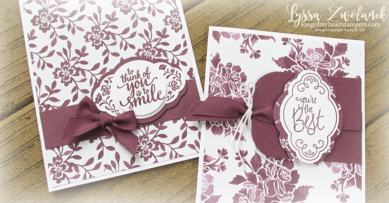 Label Me Pretty Punch Bunch Stampin Up Lyssa cards rubber stamping tutorials