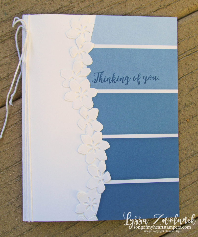 Color Theory Dapper Denim Colorful Seasons ombre paint swatch Stampin Up  papers