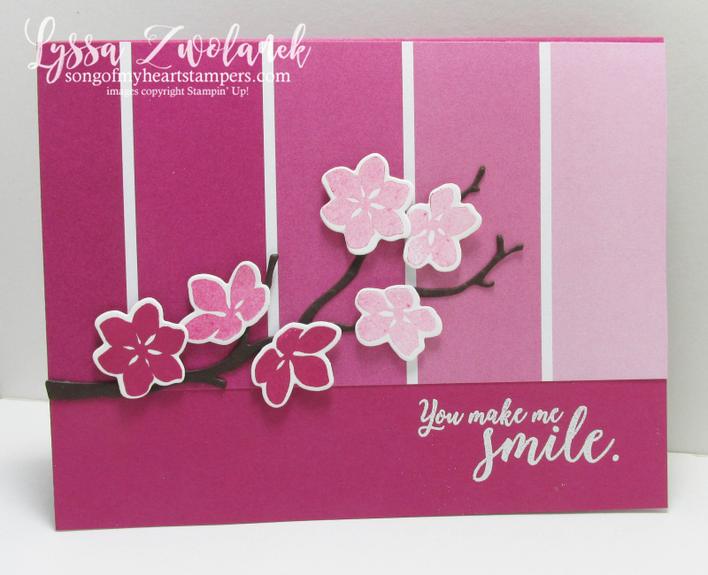 Color Theory Cherry Blossom Ombre Painter's Swatch Colors Paint Sample Stampin Up Sizzix
