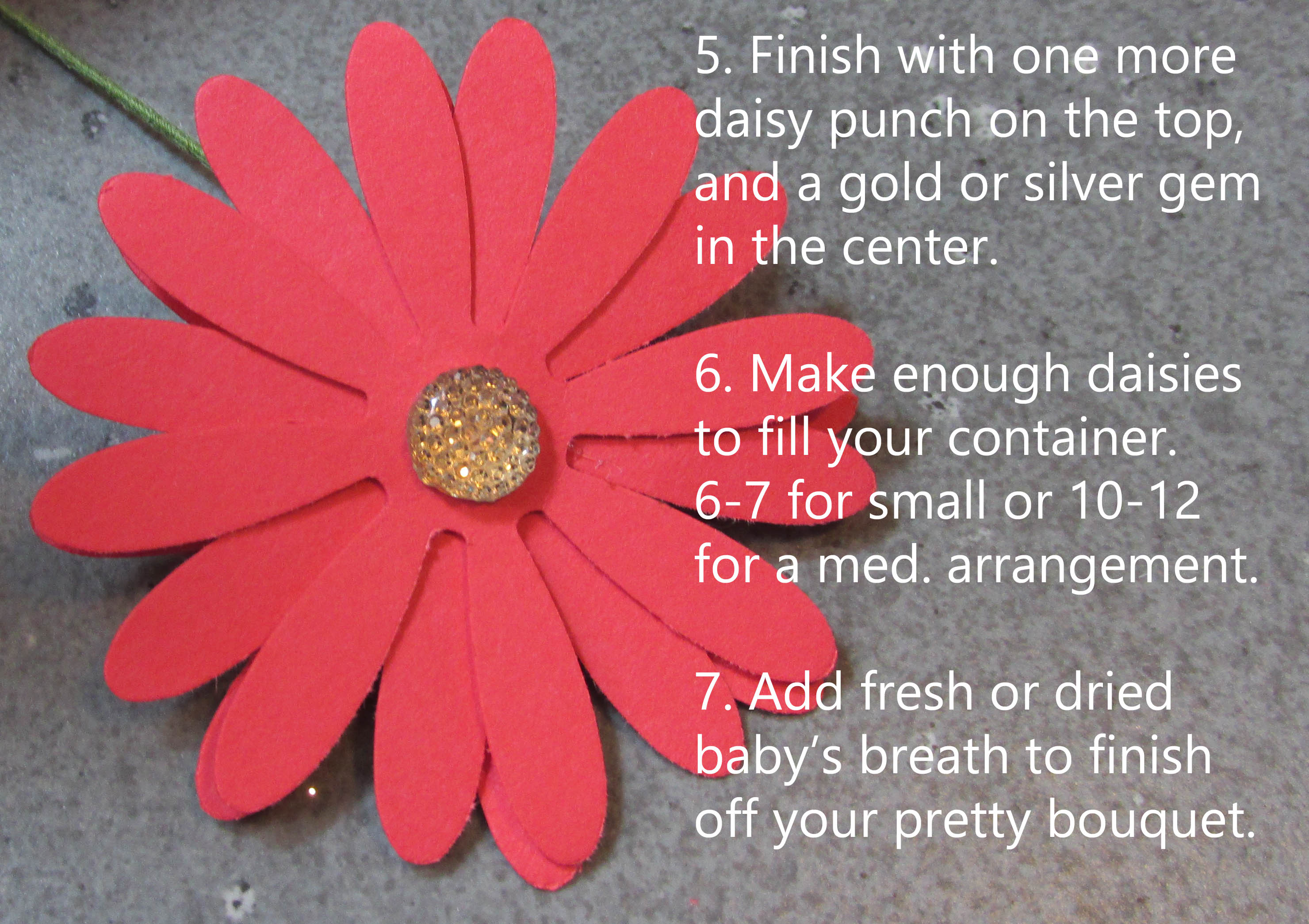 Mini Photo Tutorial Diy Paper Daisy Centerpieces Song Of My Heart