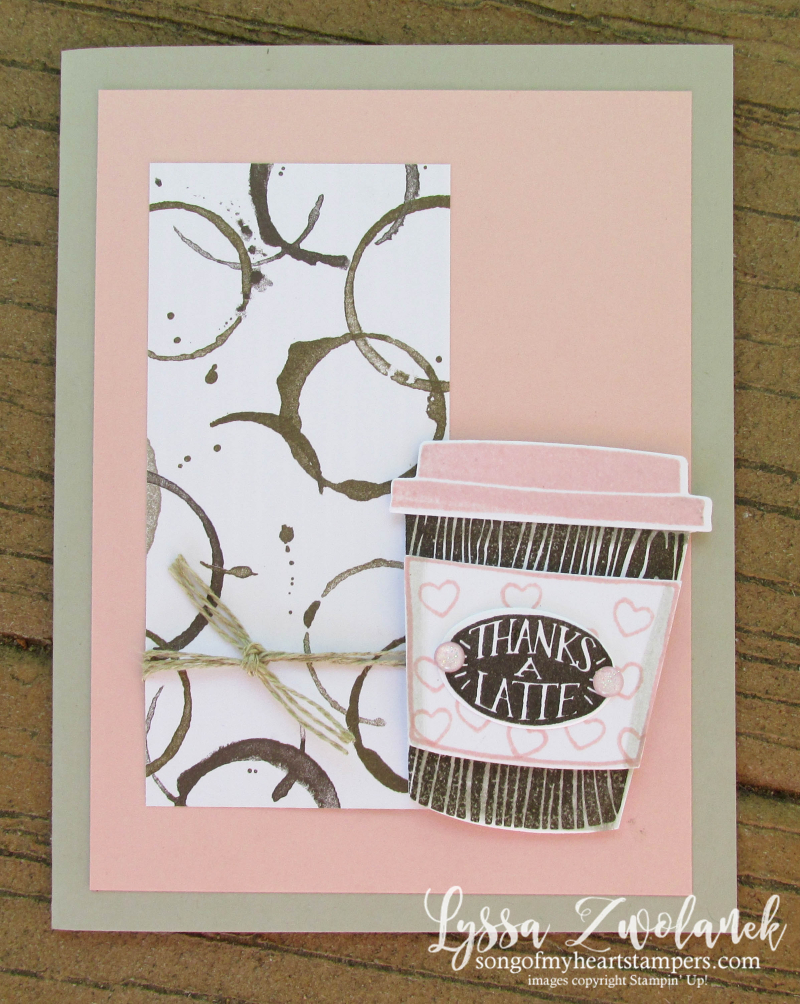 Coffee Cafe Break Time scrapbooking papers DIY cardmaking Stampin Up Thanks a Latte shop with Lyssa
