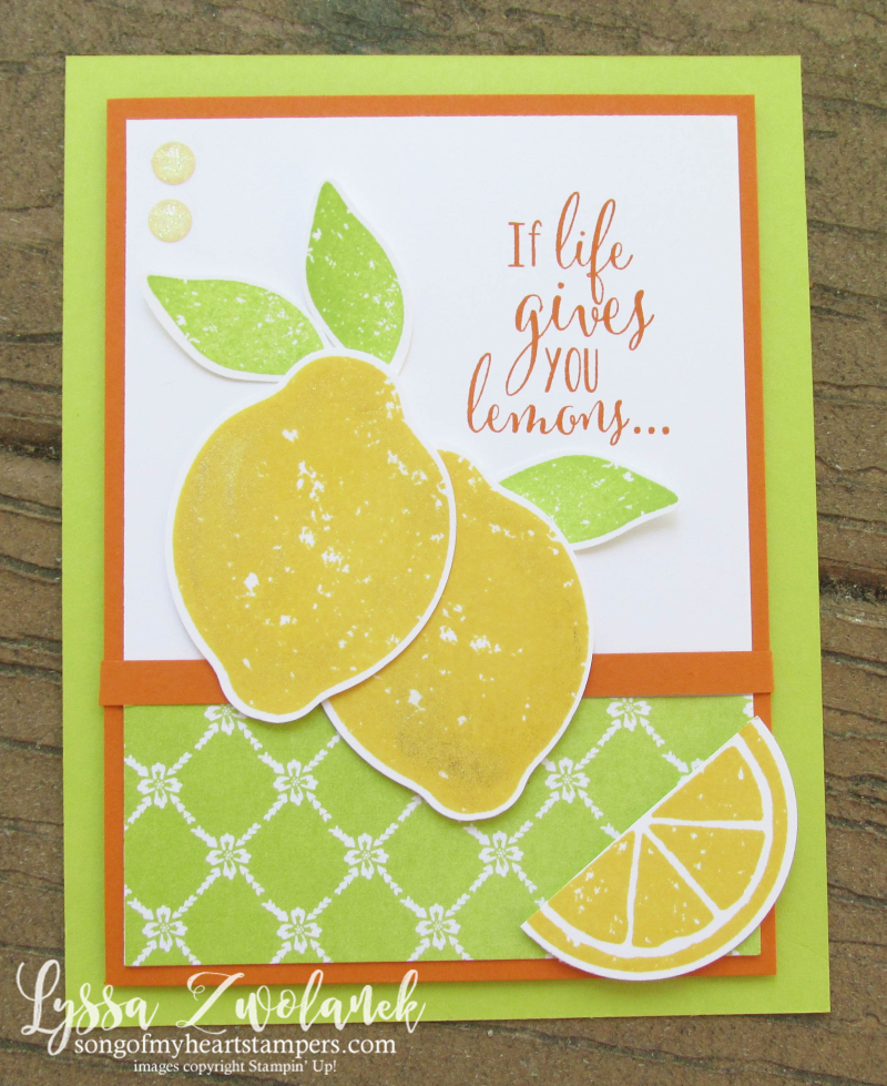Zest Lemon Bundle Punch Stampin Up rubber stamps free catalog Shop with Lyssa lemons oranges citrus lime