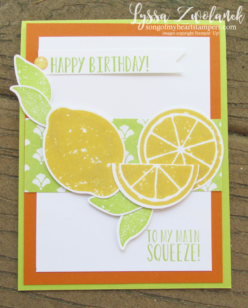Zest Lemon Bundle Punch Stampin Up rubber stamps free catalog Shop with Lyssa lemons oranges slices lime