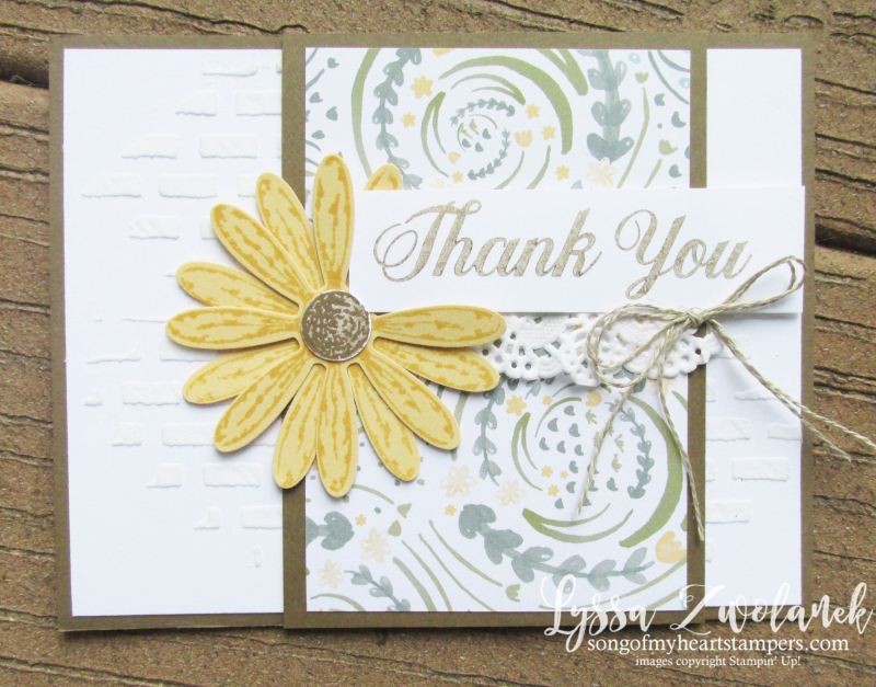 Delightful Daisy Punch Bundle Stampin Up shop Lyssa embossing paste brick wall rubber stamps art