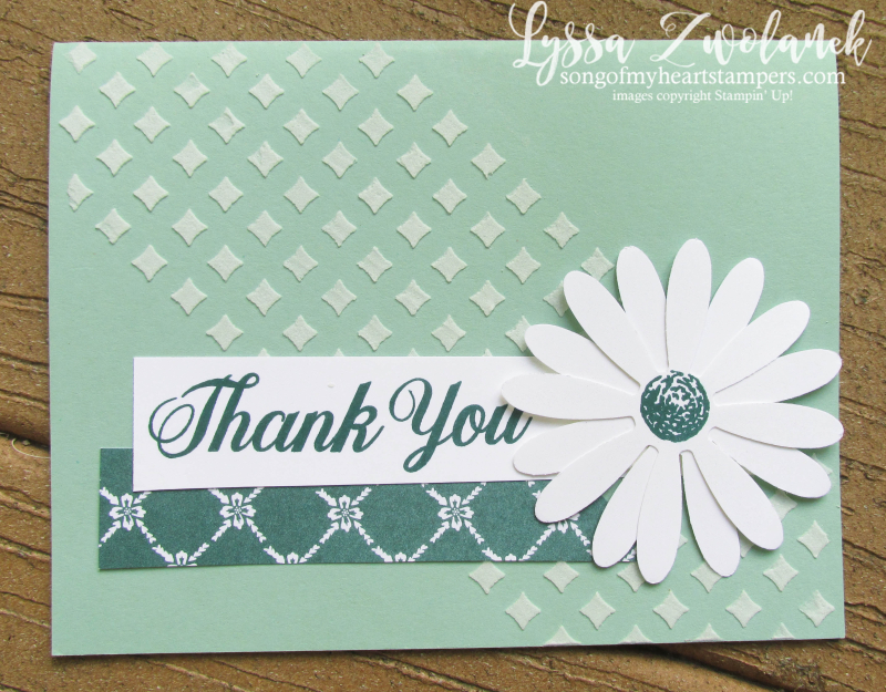 Daisy Punch Delight thank you class of month club Lyssa Stampin Up embossing paste