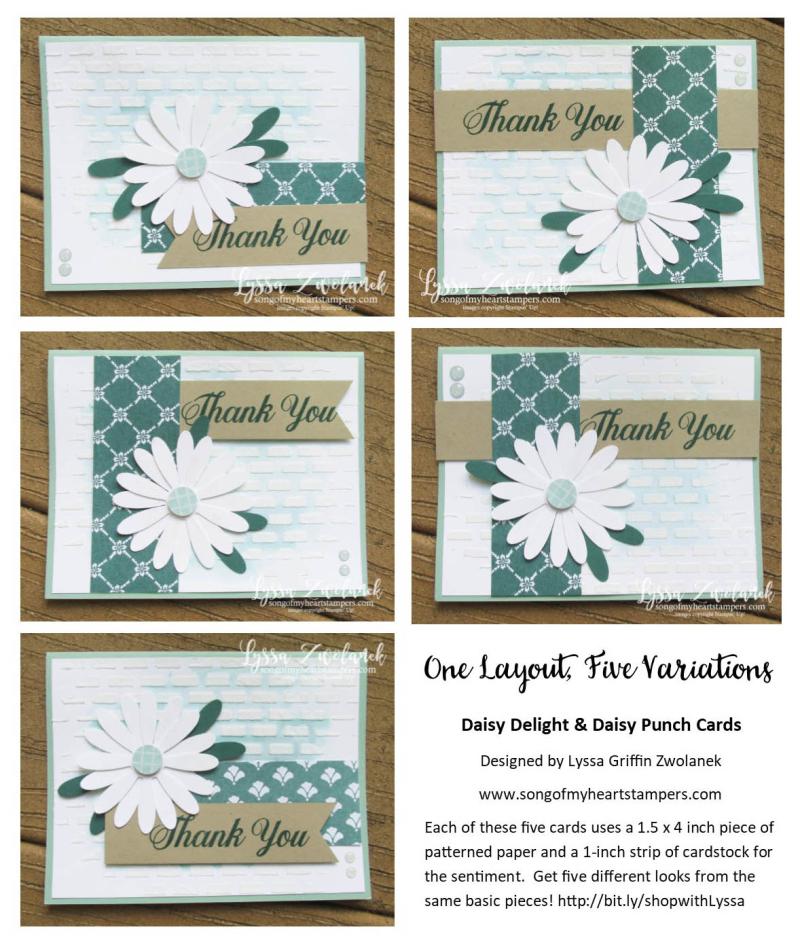 One Layout Five 5 Variations Daisy Delight Punch Bundle Stampin Up Lyssa Shop Now